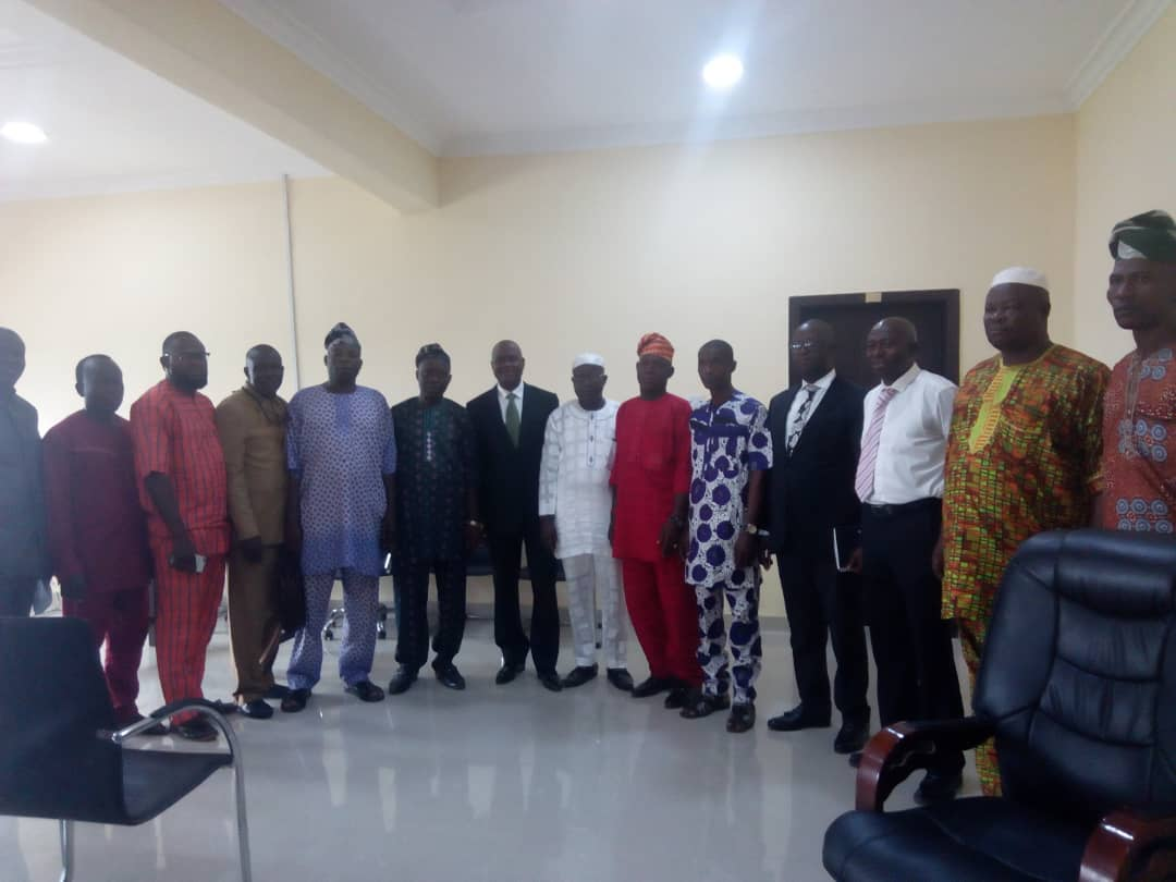 Osun motorcycles' Association in group photograph with the Leadship of OIRS